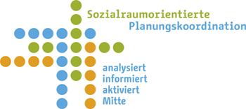 Logo Sozialraumorientierte Planungskoordination des Bezirksamts Mitte
