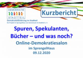 Kurzbericht zum Demokratiesalon im SprengelHaus am 09.12.