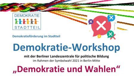 """Demokratie-Workshop """"Demokratie und Wahlen"""" am 01.09."""