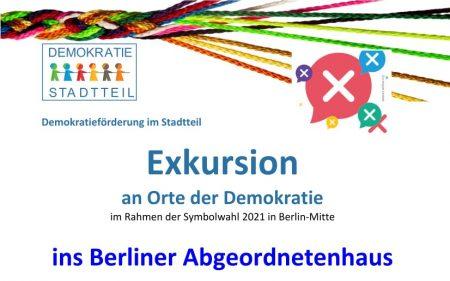 Exkursion ins Berliner Abgeordnetenhaus am 02.09.