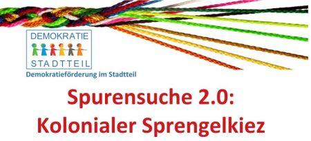 Spurensuche 2.0: Kolonialer Sprengelkiez am 25.08.
