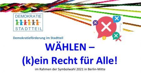 Diskussionsveranstaltung: WÄHLEN – (k)ein Recht für Alle! am 09.09.